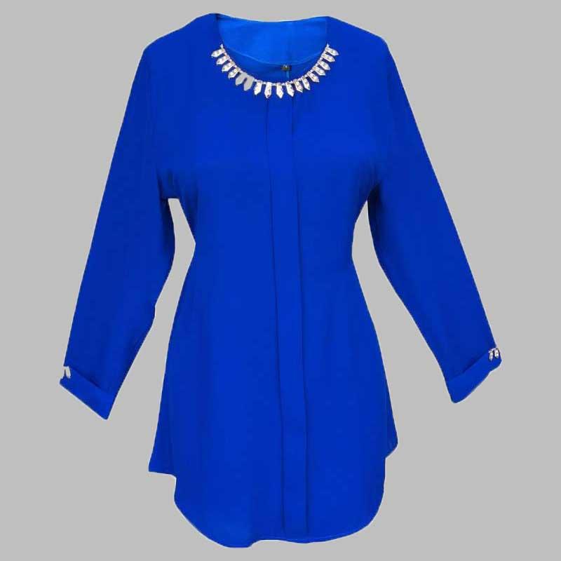 مشخصات ، بررسی و خرید بلوز زنانه | لباس زنانه | بلوز آبی کاربنی ...